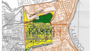 Map of Easton Pa highlighting the West Ward